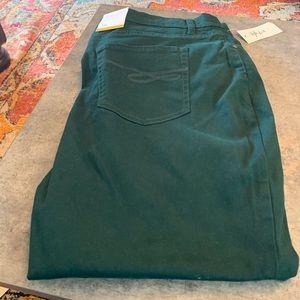 Green Slim Leg High Rise Tummy Control Jeans